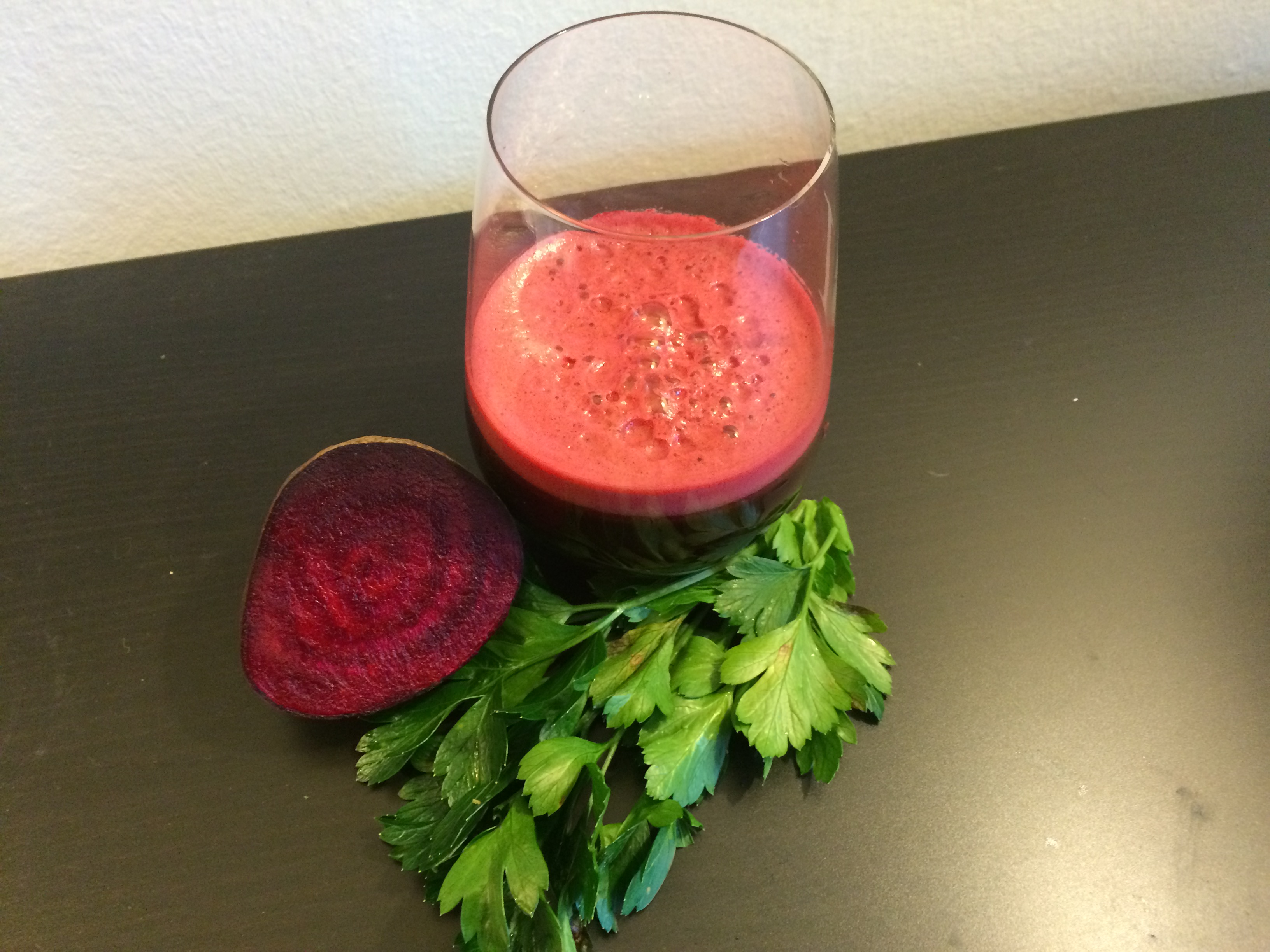 Spicy Beet and Parsley Juice