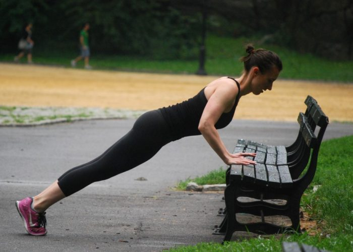 12 Minute Park Bench Workout