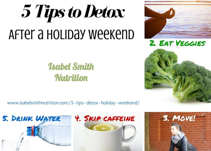 5 Tips to Detox After a Holiday Weekend