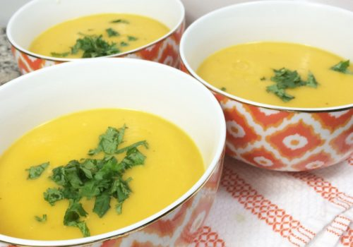 Turnip Apple and Butternut Squash Soup